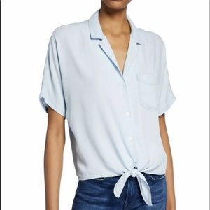 RAILS Holly Blue Chambray Tie Front Shirt
